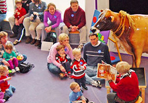 Reading at the Children's Museum